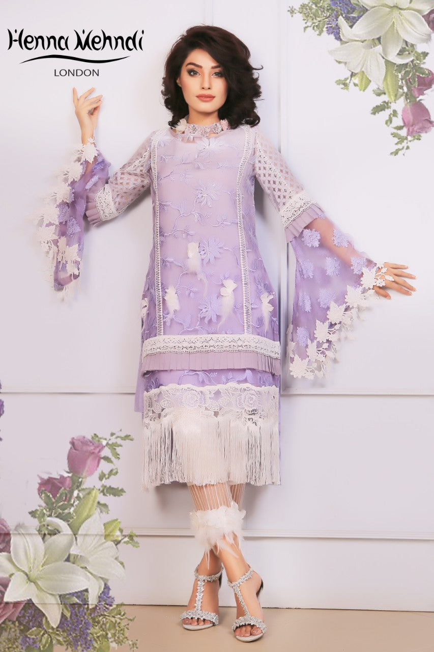 Lilac Lace & 3D Embellished Outfit