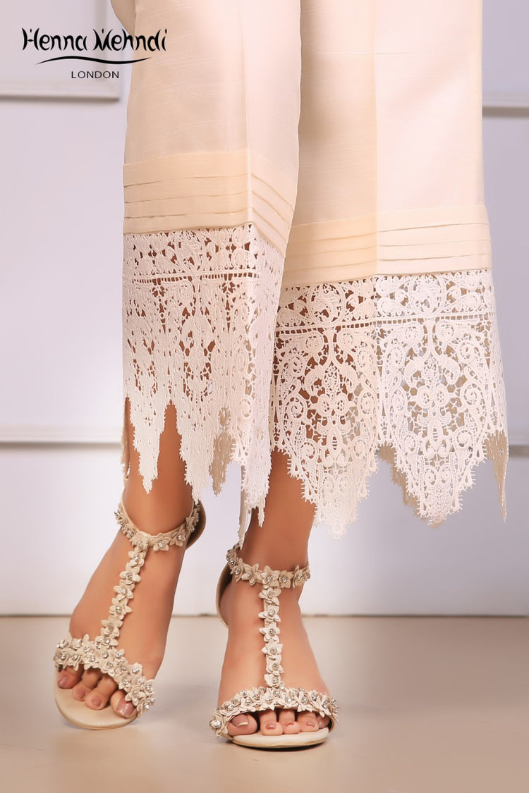 Ivory Lace Trousers