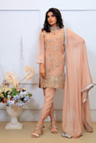 Light Pink Pearl & Diamante Embroidered Outfit - Henna Mehndi