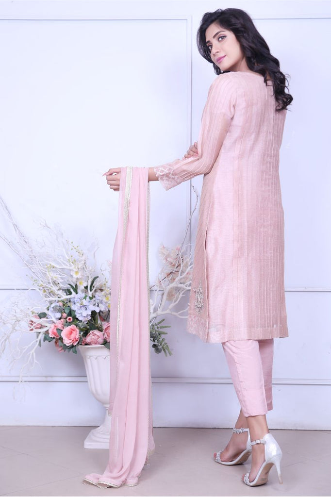 Tea Pink Embroidered Outfit