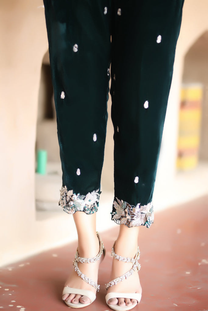 Emerald Envy Trousers - Henna Mehndi