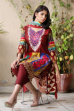 Brown Embroidered & Printed Khaddar outfit
