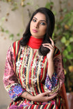 Coral Embroidered & Printed Khaddar Outfit
