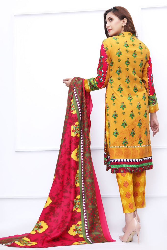 Mustrad Embroidered & Printed Outfit