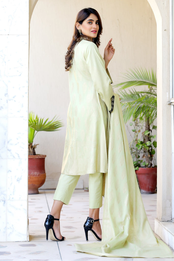 Light Green Embossed Outfit
