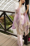Lilac Embroidered Top & Embroidered Trouser Outfit