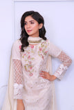 White Diamante Embroidered Outfit - Henna Mehndi