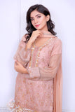 Tea Pink Diamante Embroidered Outfit - Henna Mehndi