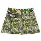 NijensBagelon reversible skirt XL blue flowers 4