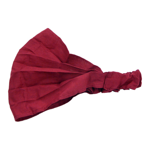 Fabric headband bandana wine red 20
