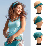 Fabric headband Bandana-23 Blue Paisley