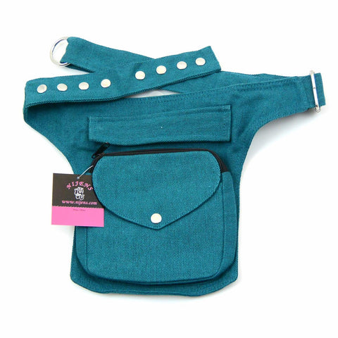 Nijens belt pouch for dog lovers Two Tone-21 turquoise