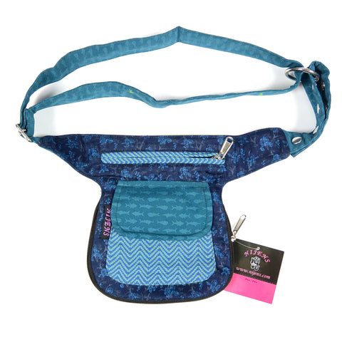 Reversible fanny pack Waist pack Hip bag turquoise-blue photo