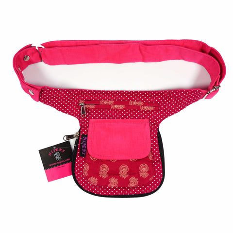 Reversible belt bag Nijens Pink girls hip bag