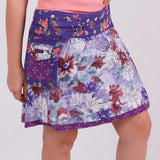 Reversible skirt NijensCherly Pie Long-19 pink flower pattern