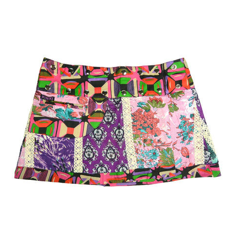 Nijens mini skirt reversible skirt cotton purple-pink