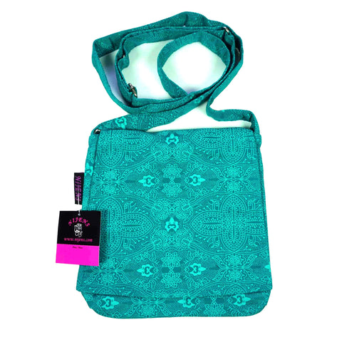 Shoulder bag Nijens Choto turquoise-OM 45