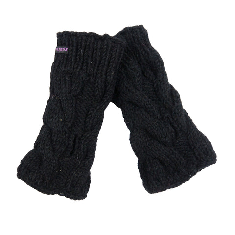 Nijens wrist warmers arm warmers wool virgin wool black