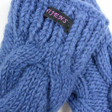 Hand-knitted Nijens wrist warmers, new wool sky blue