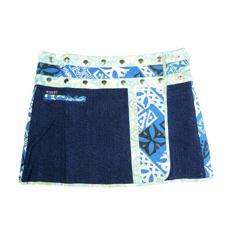 Nijens Jeans Mini Rock Blau