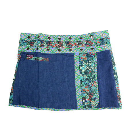 Nijens cool jeans mini skirt blue