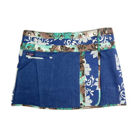Jeans mini skirt ladies summer skirt blue