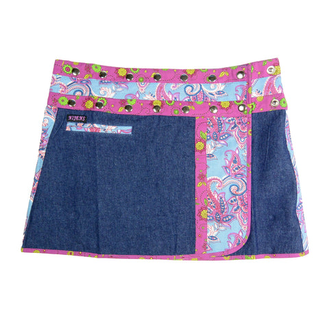 Nijens denim skirt mini skirt wrap skirt made of cotton blue-purple