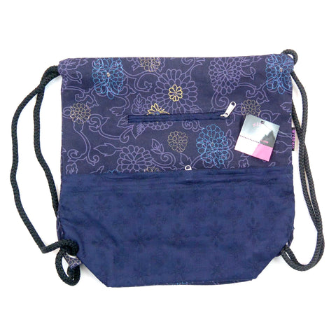 NijensGanga backpack canvas purple 181