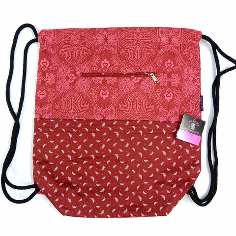 Nijens Canvas Gym Bag Backpack Red