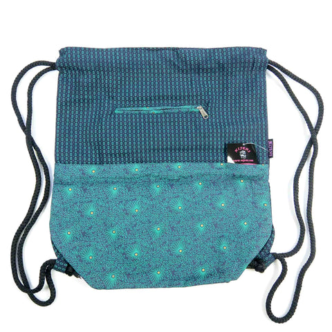 Nijens Ganga backpack canvas peacock eyes fir green