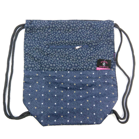Nijens Ganga backpack dog paw print indigo