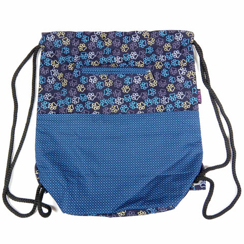 Nijens canvas backpack purple paws for dog owners