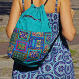 Nijens Ganga backpack canvas turquoise