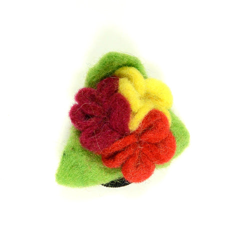 Felt hair tie flower-25