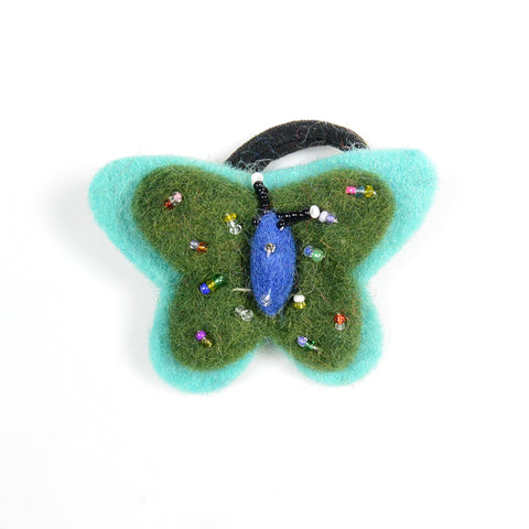 Felt hair tie butterfly small