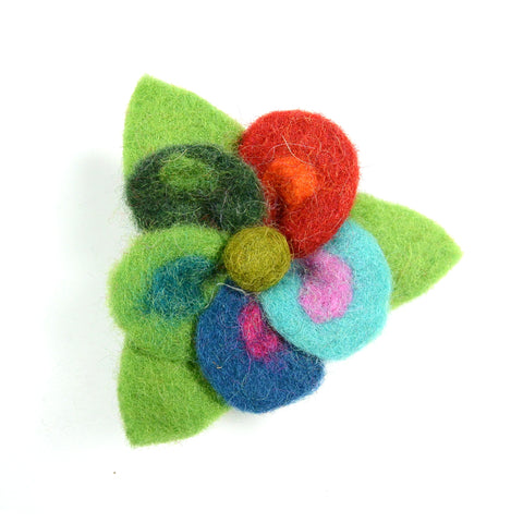 Felt hair tie flower iris