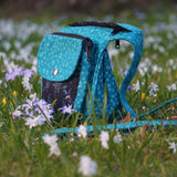 Fanny Pack Doggy Bag Hip Bag Paw Turquoise Spring Flowers Dog Outdoor Belt Foto