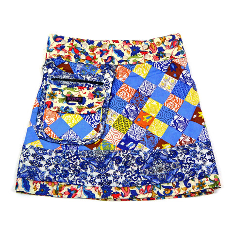 Children's skirt NijensHonee Slim-4 - blue decoration