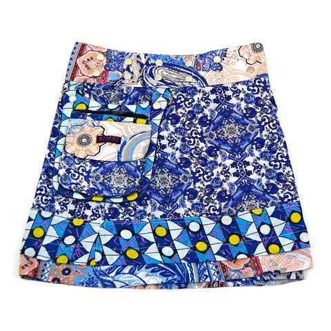 Children's skirt NijensHonee Slim-7 - blue pattern