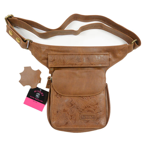 Hip Bag Hundefreunde Nijens Leder Brandy Berlin
