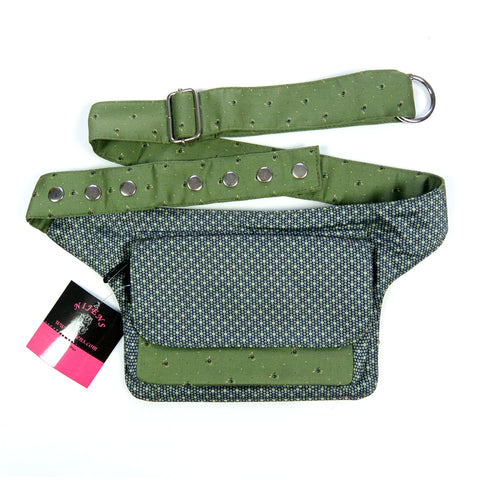 Waist bag Festival bag green Hip bag, hippie bag, belt bag, bum bag