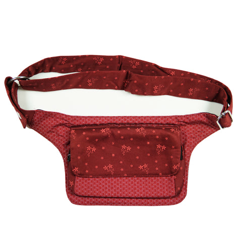 Nijens bum bag S-XXL fabric flower pattern red