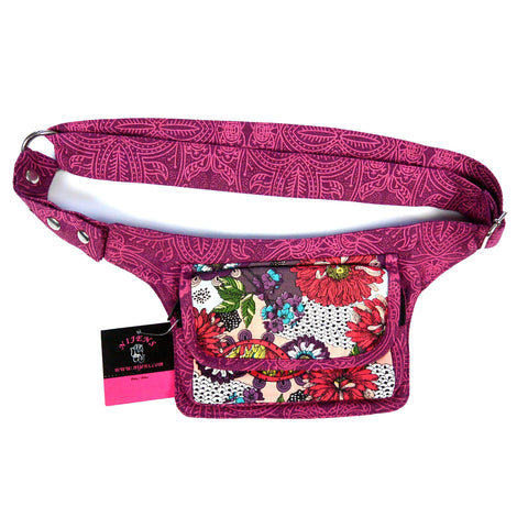 Nijens Festival Bag Waist Pack Cotton Magenta-Red