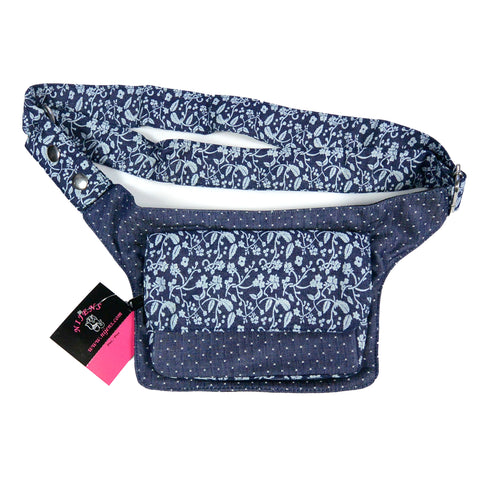 Belt bag Nijens New Denim blue flowers