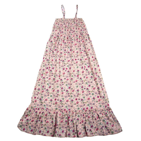 Children's dress Nijens Mini-Jaipura pink flowers