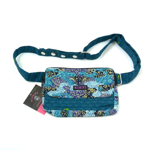 Bum bag Nijens pattern with small fish for children