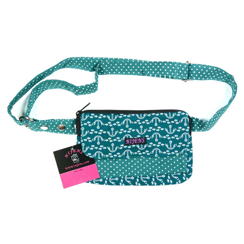 Fanny pack hip bag for children teenagers adults fabric fanny pack school leisure anchors turquoise photo