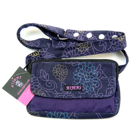 Bum bag for children and adults canvas purple