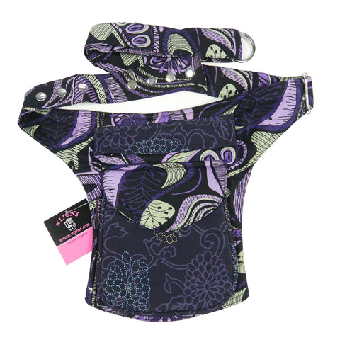 Nijens hip pack purple violet cotton
