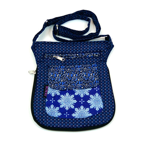 Shoulder bag NijensMatcka blue pattern mix